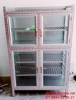 Tủ chén nhôm kính treo tường mẫu đẹp giá rẻ tại Tp HCM