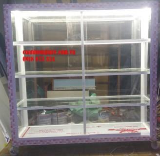 Tủ nhôm kính trưng bày mỹ phẩm tphcm