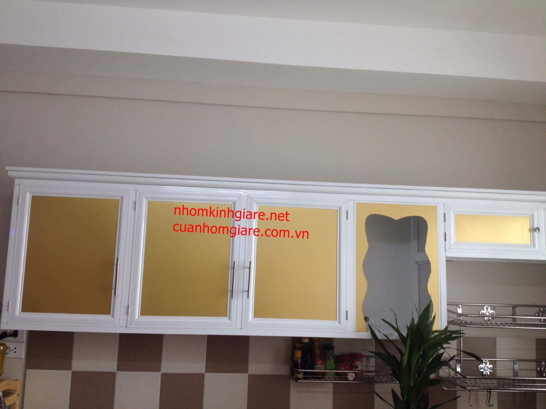 Chuyên đóng mẫu tủ bếp nhôm kính đẹp tại quận 1 tphcm
