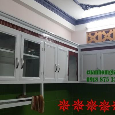 Thi công tủ bếp nhôm kính đẹp TpHCM mẫu MỚI bảo đảm CHẤT LƯỢNG