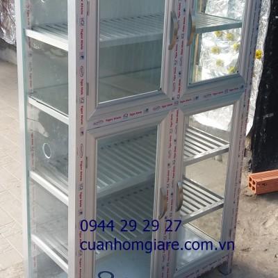 Mẫu tủ chén nhôm kính đẹp Tphcm kiểu dáng MỚI thiết kế CAO CẤP