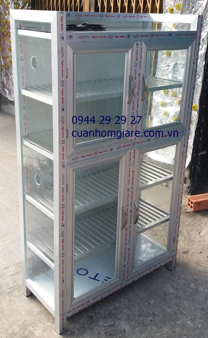 Tủ chén nhôm kín giá rẻ tphcm 2- Tu Chen Nhom
