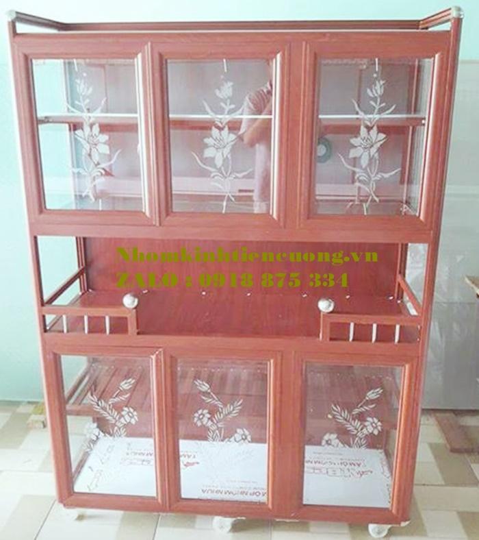 Tủ chén nhôm kín giá rẻ tphcm 1- Tu Chen Nhom