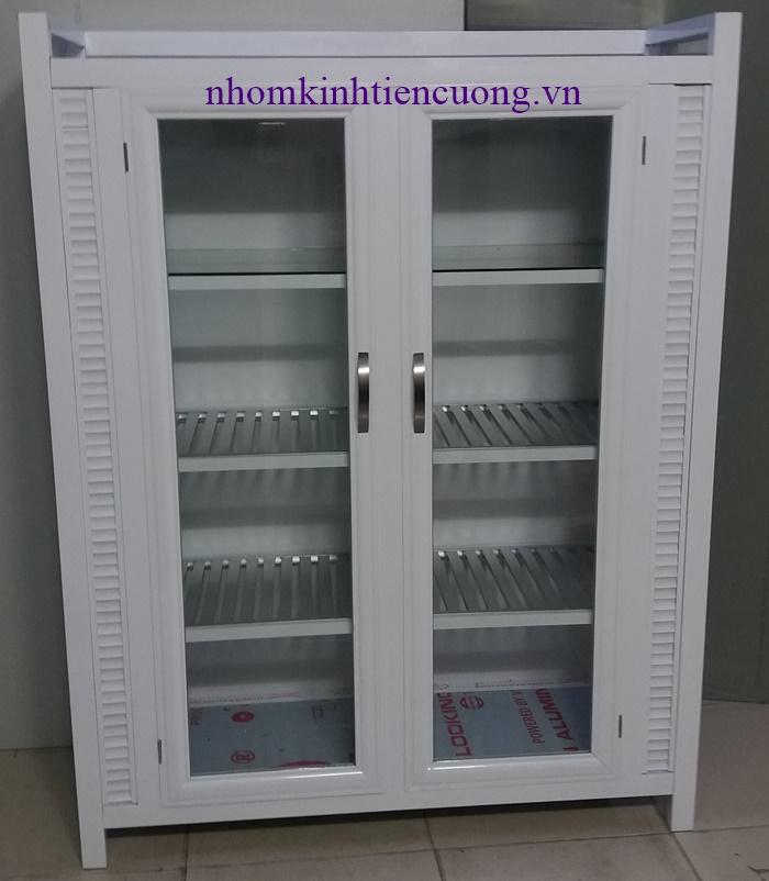 Tủ chén nhôm kín giá rẻ tphcm 3- Tu Chen Nhom